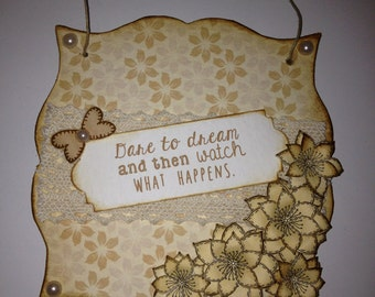 Dare to dream small wall hanging