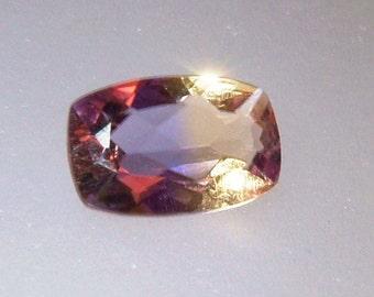 Bolivian Ametrine Cushion Cut Loose Gemstone 4.63ct 14 x 9mm Gem Supply