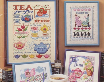 Tea Time Cross Stitch,  Tea Pots, Tea Cups, Cross Stitch Patterns, Im a Little tea Pot Cross Stitch Pictures