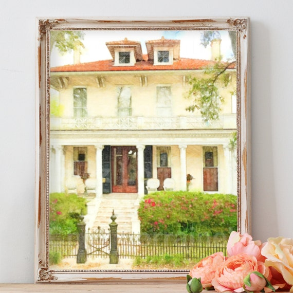 New Orleans Home Decor Stores: New Orleans Wall Art Print Garden District 2: NOLA House