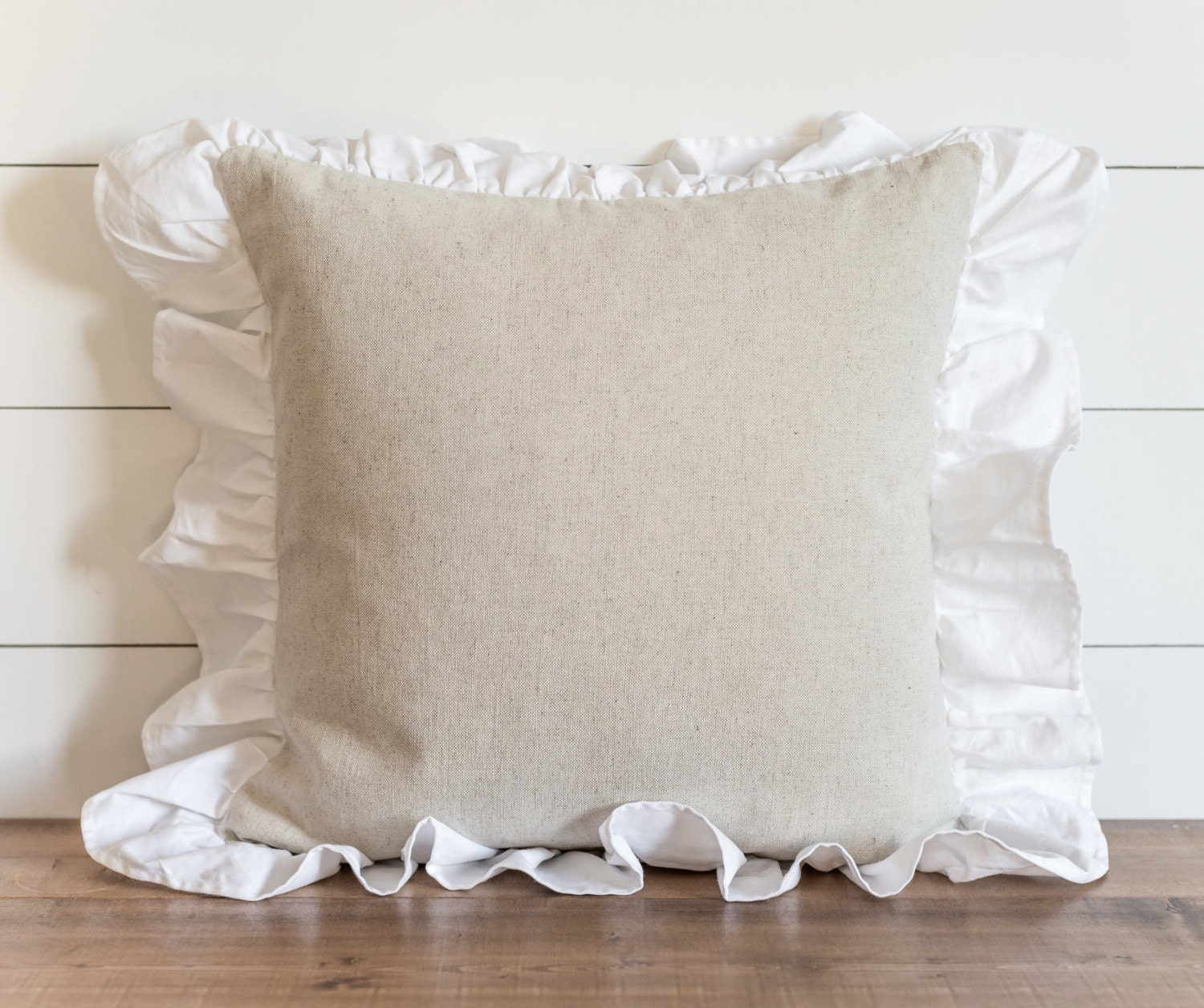 Ruffle 20 x 20 Pillow Cover // Everyday // Throw Pillow