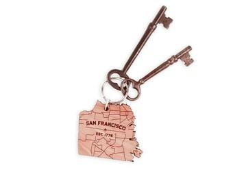 San Francisco Map Keychain