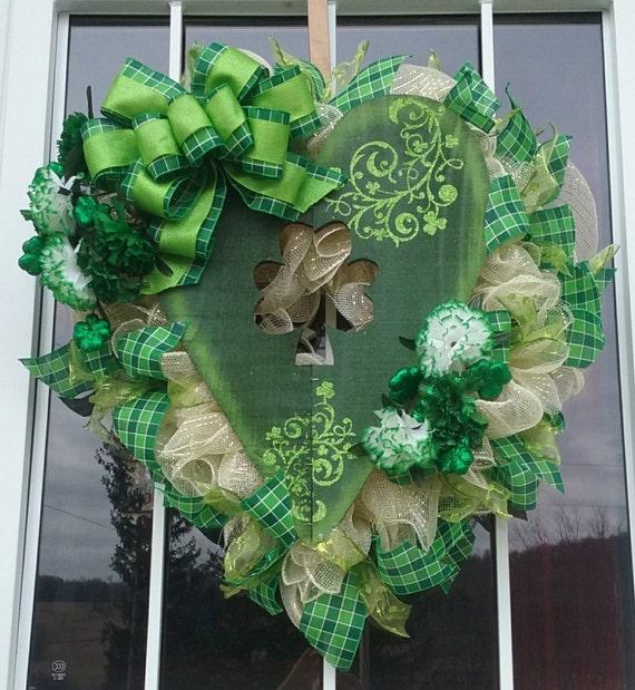 St. Patrick's Day Wreath Irish Wreath Deco Mesh Wreath
