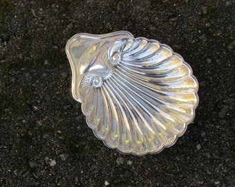 Shell Dish - Silver Plate - Vintage