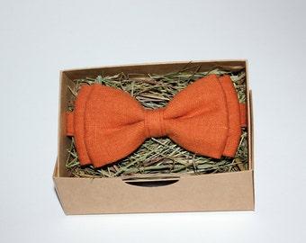 Handmade orange bow tie