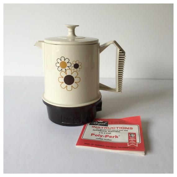 Vintage Regal Travel Coffee Pot Poly Perk Coffee Pot