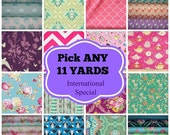 SALE 11 YARD Bundle - Choose your own fabrics and just include the list with your order!!!  Fabric bundle