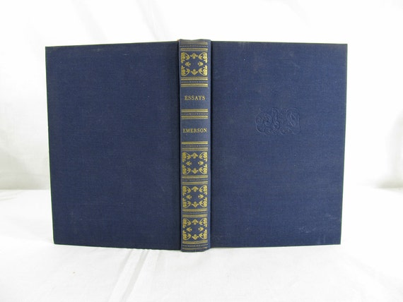 Essays Of Ralph Waldo Emerson ..First And Second Series, English Traits, Nature And Considerations Hardcover 1940's/30's Book Barnes VG
