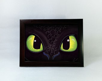 Toothless inspired 5x7 Postcard Print