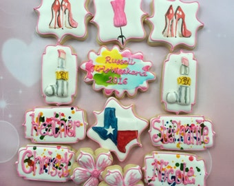 1 dozen girls weekend cookies - pick the city and I'll do the rest