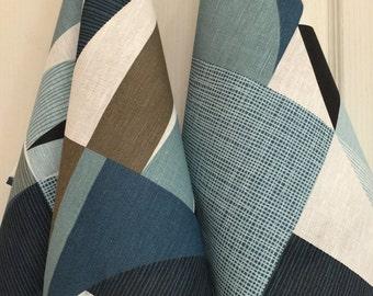 Linen Tea Towel Dish Kitchen Decor Gift Guest Hand Towel Set of 2 Print Fabric