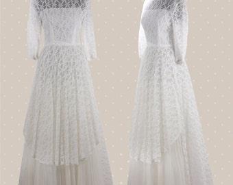 1960s Vintage A-line wedding dress