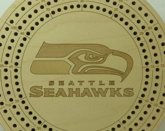 Seatle Seahawks Cribbage Board
