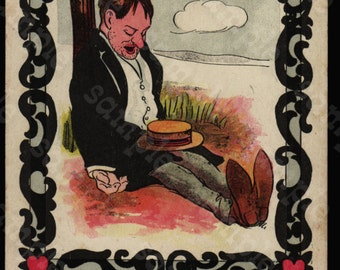 Original Antique Victorian Trade Card  Lazy Man From The Rose Company