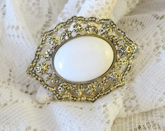 Vintage Large Ornate Gold tone Brooch - CLEARANCE