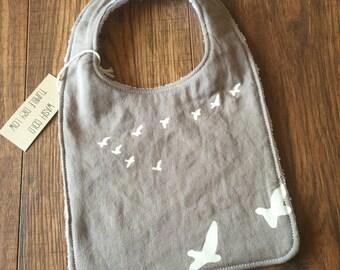 Birds in Flight Bib- Organic Cotton
