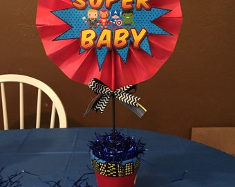 Marvel- ous superbaby centerpieces