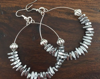 Big Silver Hoop Earrings, Silver Hoops, Hoop Earrings, Hoops, Large Hoop Earrings, Earrings, Silver Earrings, Silver Hoop Earrings