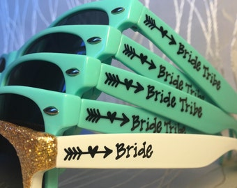 Bride Tribe Personalized Sunglasses for Bachelorette/Bride/Bride to be/Girls/Bach weekend