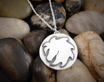 Argetium horse necklace