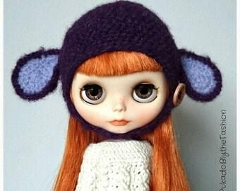 Blythe Hat - Fuzzy Animal - OOAK Handmade