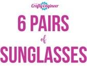 6 PAIRS -- Personalized Sunglasses, Custom Sunglasses, Bachelorette Sunglasses, Wedding Sunglasses, Bachelorette Gift, Wayfarer Sunglasses