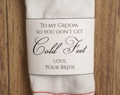 Cold Feet Printable Sock Wrapper - Cold Feet Label - So you don't get cold feet - Groom Gift - Wedding Sock Wrapper