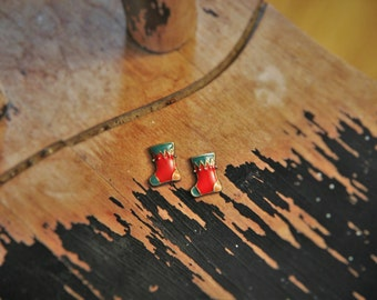 Christmas Stocking Stud Earrings!