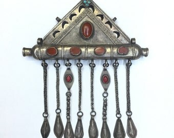 FAST FREE SHİPPİNG ! Vintage old silver tumar original jewellery