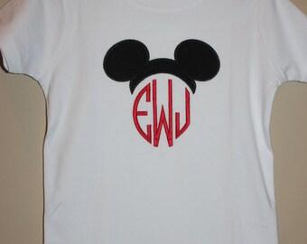 Adult Disney Monogrammed Mouse Ears Shirt