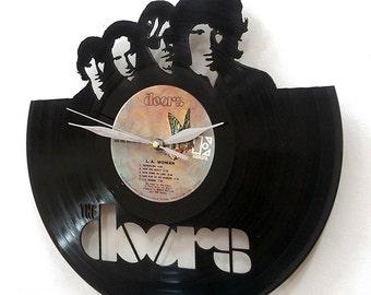 The Doors band Wall Art -Vinyl Clock or Framed Vinyl Record LP -Great Rock'n'Roll Gift - Wall records clock - the Doors band vinyl clock