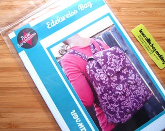Bag Purse Sewing Pattern - Edelweiss Backpack Bag Sewing Pattern - Sew Sweetness - Printed Sewing Pattern