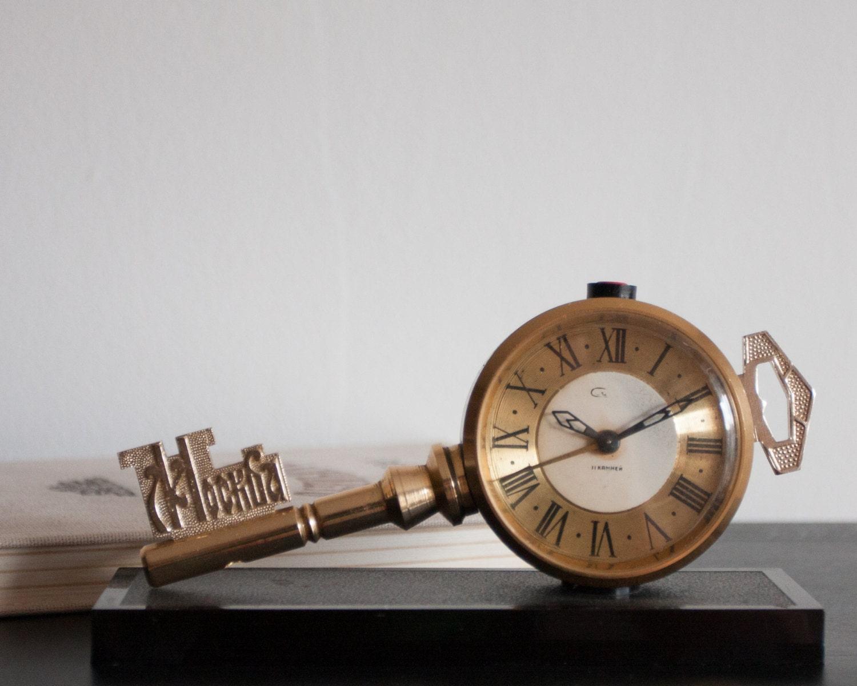 Skeleton Key Alarm Clock Large Key Clock Slava Clock