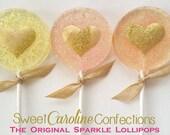 Valentine's Day Lollipops, Be My Valentine, Valentine Gift, 6 Colors Available, Pastel Spring Lollipops, Sparkle Lollipops-Set of 6