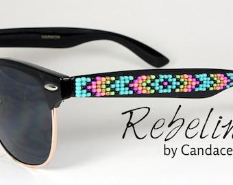 Beaded Sunglasses Neon Brights