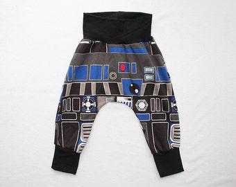 Baby Boy Harem Pants 0-24mos 2T-6 Star Wars R2D2 Outfit Baby Star Wars Robot Harem Pants Toddler Robot Costume Infant Star Wars pants Outfit