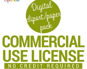 Commercial Use License No Credit Required for Clipart & Digital Papers