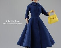 vintage dress with hat for Silkstone Barbie and Poppy Parker by SL Doll Fashion