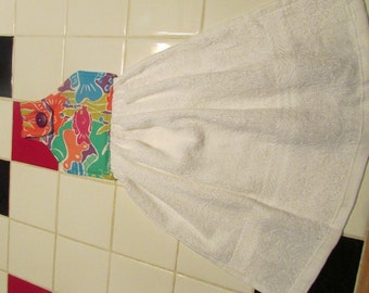 Hanging kitchen towel tea towel dish towel