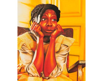 celiE - art prints from an original eightangrybears painting (Whoopi Goldberg from The Color Purple)