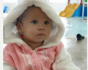 towel hooded baby jacket