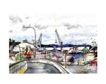 Port of Everett  /// Sketchy Everett Series