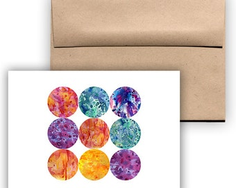 Set of 4 Mystery Planet Ink Orb Cards