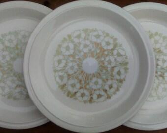 Hornsea Fleur dinner plates, Hornsea Fleur plates, Hornsea pottery Fleur, Hornsea Pottery dinner plates, Hornsea dinner plates Fleur pattern
