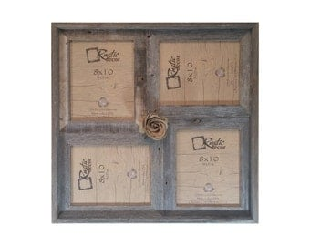 8x10 2 wide multi direction rustic barn wood collage frameholds 4 8x10 pictures
