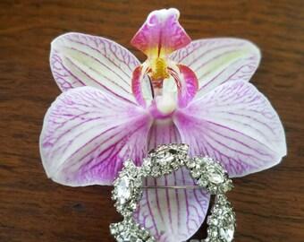 Vintage Tiara Sparkling Brooch Costume Jewelry