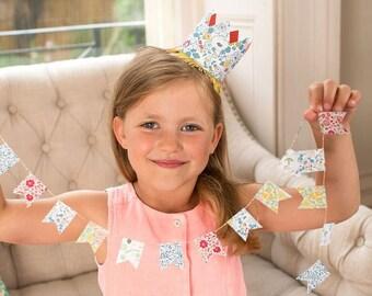 Liberty Of London - Mini Garland, Meri Meri Liberty Party Supplies, Mini Garland, pretty party supplies meri meri garland uk seller