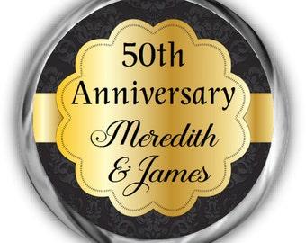 Personalized Anniversary Stickers • 50th Anniversary Labels • Anniversary Sticker