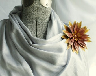 Paper + Gold Accent Gerbera Corsage - Option to Lease