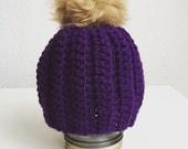 Baby/child Faux Fur Pom Pom Hat